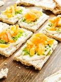 Здоровые закуски хлеба Стоковые Изображения RF