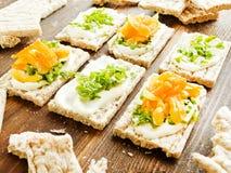 Здоровые закуски хлеба Стоковое Изображение