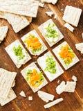 Здоровые закуски хлеба Стоковая Фотография RF