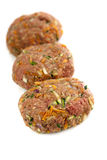 Здоровые изолированные пирожки гамбургера Стоковые Изображения RF
