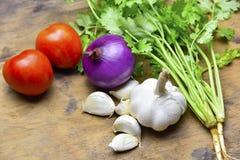 Здоровые органические овощи на деревянной предпосылке Стоковая Фотография