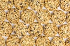 Здоровые печенья с хлопьями и гайками Стоковое Изображение RF