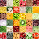 Здоровые предпосылки еды Стоковые Фотографии RF