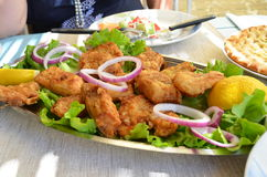 Здоровые рыбы еды Стоковые Фотографии RF