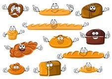 Здоровые свежие продукты хлебопекарни и печенья иллюстрация штока