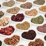Здоровые чая травы стоковые фотографии rf