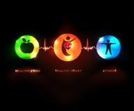 Здоровые человеческие символы концепции иллюстрация вектора