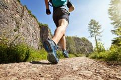 Здоровый бег следа стоковое фото