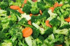 Здоровый брокколи, моркови овоща Стоковые Изображения