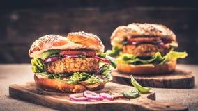 Здоровый бургер Vegan Стоковые Изображения