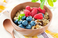 Здоровый вегетарианский завтрак Стоковая Фотография