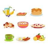 Здоровый вектор еды завтрака иллюстрация штока