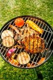 Здоровый внешний живущий BBQ лета Стоковое фото RF