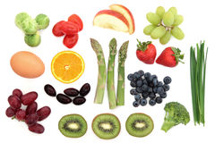 Здоровый выбор еды стоковые фотографии rf