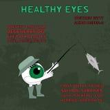 Здоровый глаз Информация о преимуществах рыб для зрения Стоковые Фотографии RF