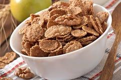 Здоровый завтрак - все muesli зерна с грецким орехом стоковая фотография rf