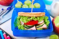 Здоровый завтрак для школы Стоковая Фотография