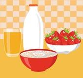 Здоровый завтрак Иллюстрация штока