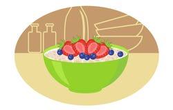 Здоровый завтрак Бесплатная Иллюстрация