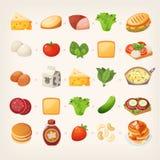 Здоровый завтрак mix_2 иллюстрация вектора