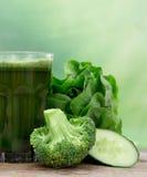 Здоровый зеленый сок Стоковая Фотография