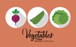 здоровый значок овощей иллюстрация вектора