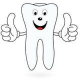 Здоровый зуб шаржа Стоковое фото RF