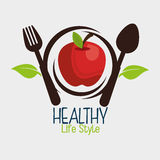 Здоровый дизайн еды Стоковая Фотография RF