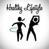Здоровый дизайн образа жизни Стоковые Изображения RF