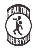 Здоровый дизайн образа жизни Стоковое Изображение