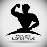 Здоровый дизайн образа жизни Стоковая Фотография RF