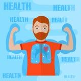 Здоровый дизайн образа жизни бесплатная иллюстрация