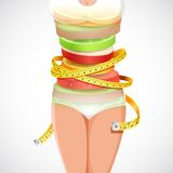 Здоровый и уменьшающ еду Стоковое Изображение RF
