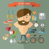 Здоровый и фитнес Стоковые Изображения