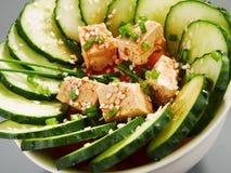 Здоровый китайский салат огурца Стоковое Изображение