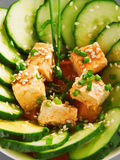 Здоровый китайский салат огурца Стоковые Фото