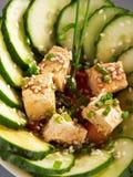 Здоровый китайский салат огурца Стоковое фото RF