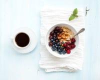 Здоровый комплект завтрака Шар каши овса с Стоковые Изображения RF
