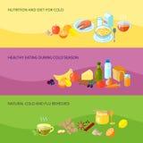 Здоровый комплект знамени еды бесплатная иллюстрация