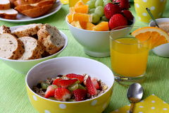 Здоровый красочный завтрак Стоковые Фото