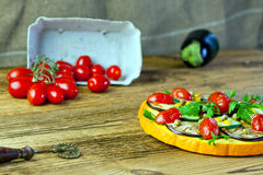 здоровый овощ пиццы Стоковая Фотография RF