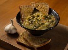 здоровый овощ супа стоковая фотография rf