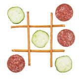 Здоровый против нездоровой еды Стоковые Изображения