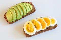 Здоровый сандвич Wholemeal Стоковое Изображение RF