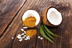 Здоровый сахар кокоса Стоковое Фото