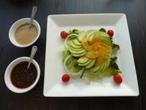 Здоровый салат авокадоа еды Стоковое Фото
