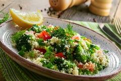 Здоровый салат кускус с овощами Стоковые Фото