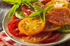 Здоровый салат томата Heirloom Стоковые Изображения