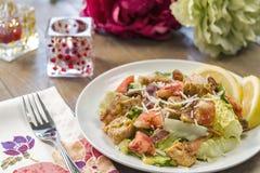 Здоровый салат цезаря омара Стоковое Изображение RF