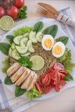 Здоровый салат шара квиноа Стоковая Фотография